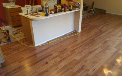 Hardwood, is hard to install.